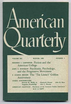 American Quarterly: Volume 12, Number 4, Winter 1960