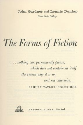 The Forms of Fiction