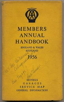 The Automobile Association Members Annual Handbook 1956: England & Wales, Scotland