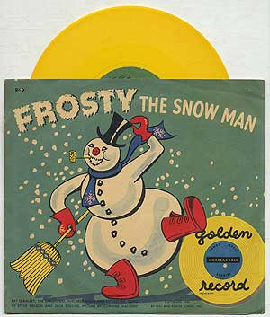 Vinyl Record]: Frosty the Snow Man: Golden Record, 78 RPM