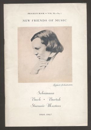 Schuman; Bach; Bartok; Slavonic Masters: Program Book 1946-47, Vol. XL, No. 1