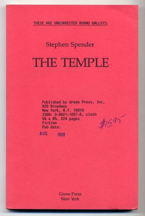 The Temple. Stephen SPENDER