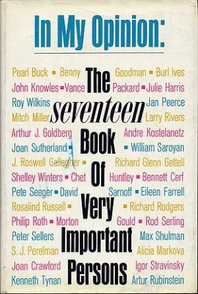 In My Opinion: The Seventeen Book of Very Important Persons