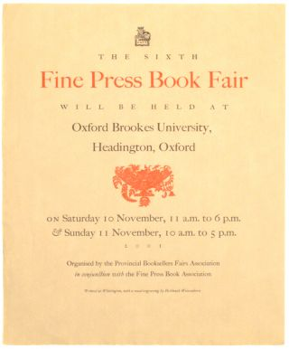 Broadside]: Fine Press Book Fair
