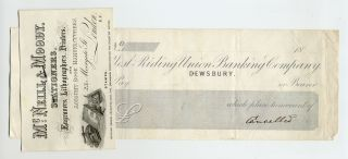 Cancelled Bank Note with Business Card from McNeill & Moody