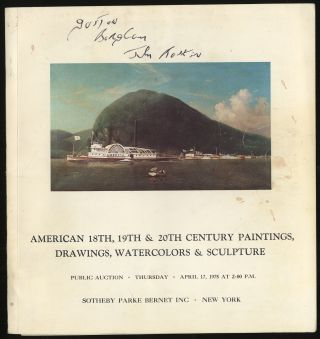 AMERICAN 18TH, 19TH & 20TH CENTURY PAINTINGS, DRAWINGS, WATERCOLORS & SCULPTURE