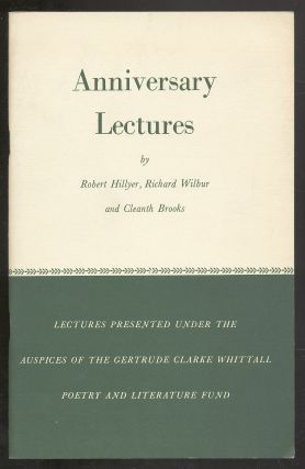Anniversary Lectures, 1959: Robert Burns, Edgar Allan Poe, Alfred Edward Housman. Robert HILLYER,...