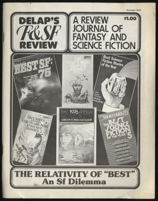 Delap's F & SF Review: A review Journal of Fantasy and Science Fiction