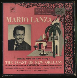 "Vinyl Record]: Mario Lanza: Operatic Arias and Duets As Sung In ""The Toast of New Orleans"""