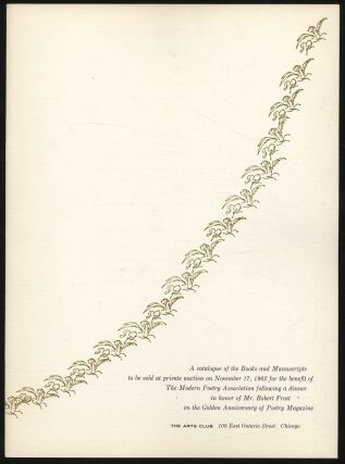 A Catalogue of the Books and Manuscripts to be Sold at Private Auction on November 17, 1962 for...