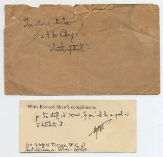Small card Inscribed