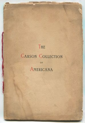 The Carson Collection of Americana