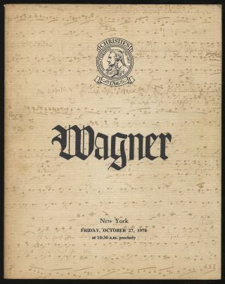 The Richard Wagner Collection Formed by the Honourable Mrs. Mary Burrell