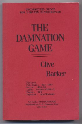 The Damnation Game. Clive BARKER