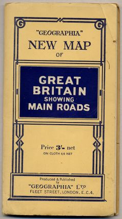 """Geographia"" New Map of Great Britain Showing Main Roads"