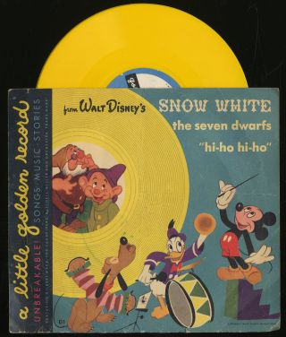 Vinyl Record]: From Walt Disney's Snow White, The Seven White, The Seven Dwarfs: Hi-HO Hi-Ho:...