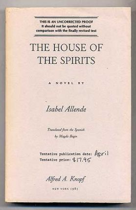 The House of the Spirits. Isabel ALLENDE.