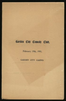 Garden City Comedy Club, February 19th, 1901, Garden City Casino