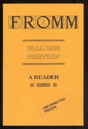 Fromm Fall 1991 Preview A Reader