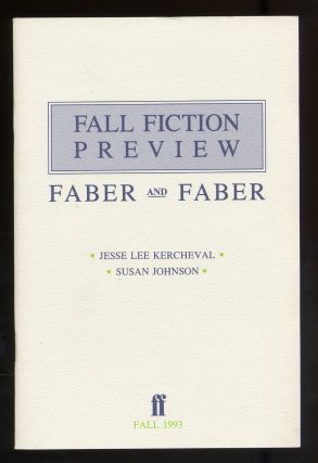 Faber and Faber Fall Fiction Preview