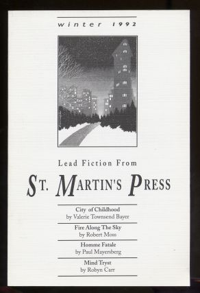Lead Fiction From St. Martin's Press Winter 1992