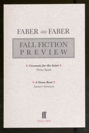 Faber and Faber Fall Fiction Preview 1994