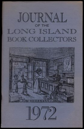 Journal of the Long Island Book Collectors. No.2 - 1972