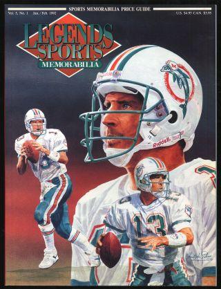 Legends Sports Memorabilia: January/February 1992, Volume 5, Number 1