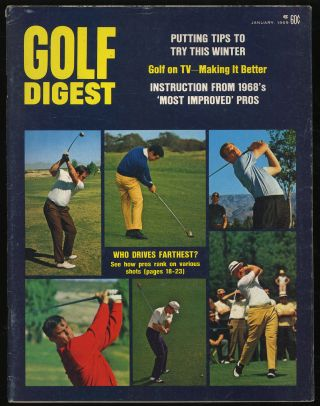 Golf Digest Volume 20 Number 1 January 1969