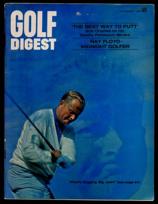 Golf Digest Volume 20 Number 11 November 1969