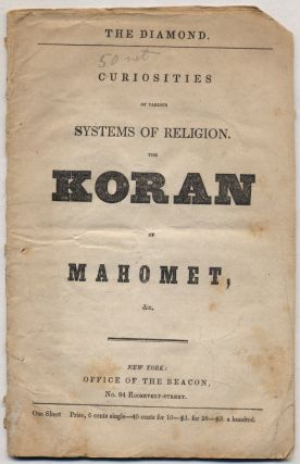 The Diamond. Curiosities of Various Systems of Religion. The Koran of Mahomet, &c
