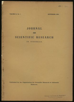 Journal For Scientific Research: Volume II, No. 1, September, 1953