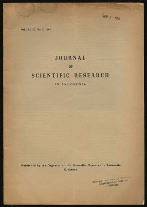 Journal For Scientific Research in Indonesia: Volume III, No. 1, 1953