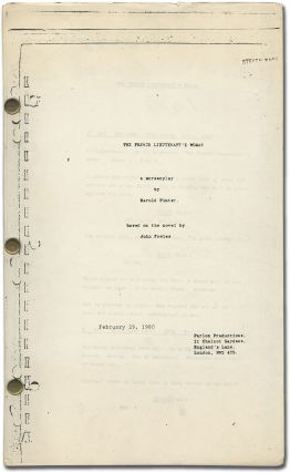 Screenplay]: The French Lieutenant's Woman: A Screenplay. Harold PINTER