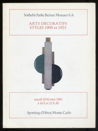 Arts Decoraties Styles 1900 et 1925