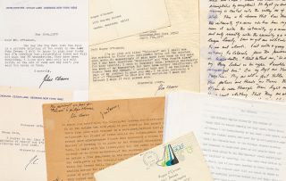 File of John Cheever's Writings including Manuscripts and Letters. John CHEEVER