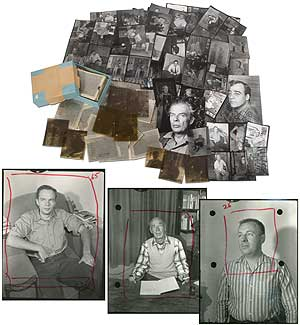A Collection of Photo Negatives. Aldous Huxley Philip K. Dick, Lawrence Ferlinghetti, Kenneth...