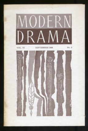 Modern Drama Volume XI Number 2 September 1968