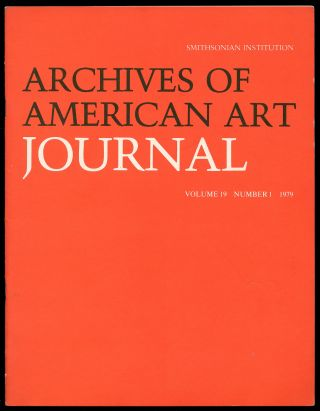 Archives of American Art Journal Volume 19 Number 1 1979
