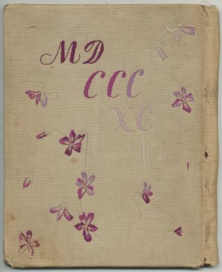 [Needlework binding]: For Memory is Possession. MDCCCXCI