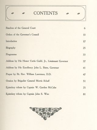 A Record of the Dedication of the Statue of Major General William Francis Bartlett. A Tribute of the Council of Massachusetts. May 27, 1904