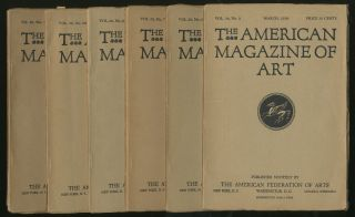 The American Magazine of Art Volume 20 Number 3,6,7,9,10,11