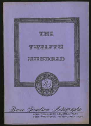 Bruce Gimelson, Autographs: The Twelfth Hundred
