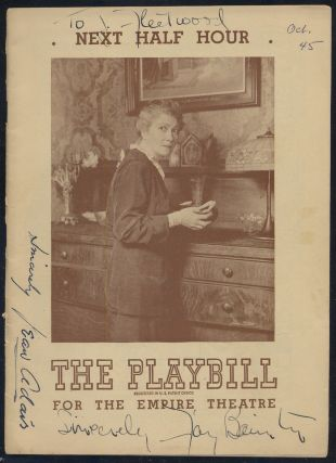 Playbill]: Next Half Hour. Mary CHASE