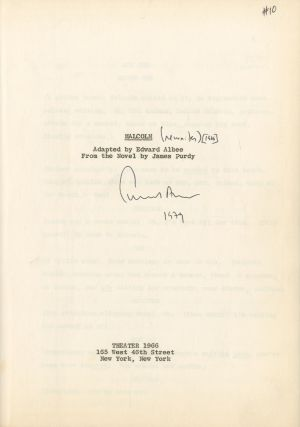 [Playscript]: Malcolm: Adapted by Edward Albee from the Novel by James Purdy