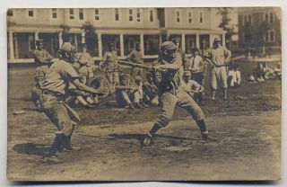 Photographic postcard of a baseball game