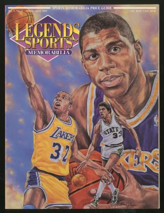 Legends Sports Memorabilia: Volume 5, Number 2, March/April, 1992: Magic Johnson