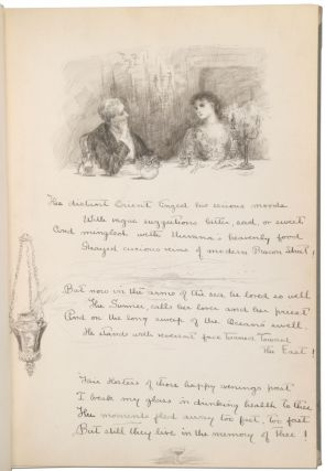 [Manuscript Guest Book With Poems and Ink Drawings]: To My Hostess 1888 - 89