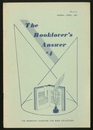 The Booklover's Answer: #4, March-April, 1963