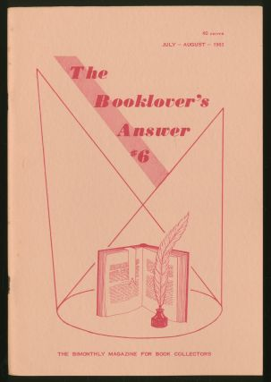 The Booklover's Answer: #6, July-August 1963